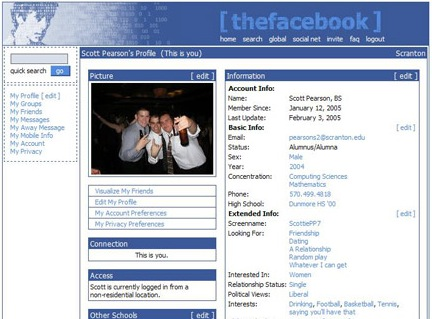 old Facebook Profile Design
