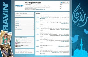Ravin Twitter interface design
