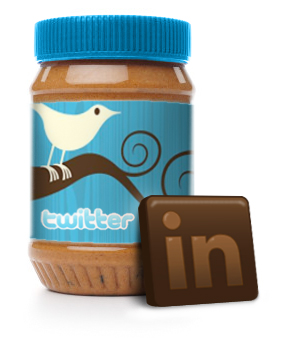 chocolate twitter linkedin logos