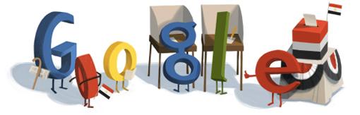 شعار جوجل فى أنتخابات مصر