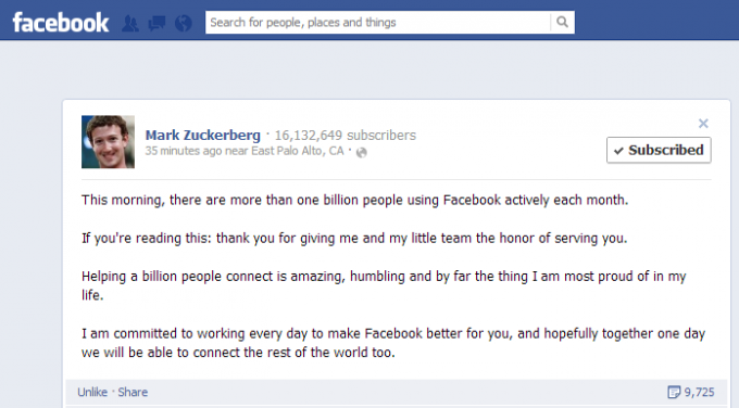 facebook one bilion png