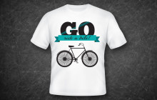 t-shirt design: go ride a bike