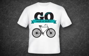 t-shirt design: go ride a bike